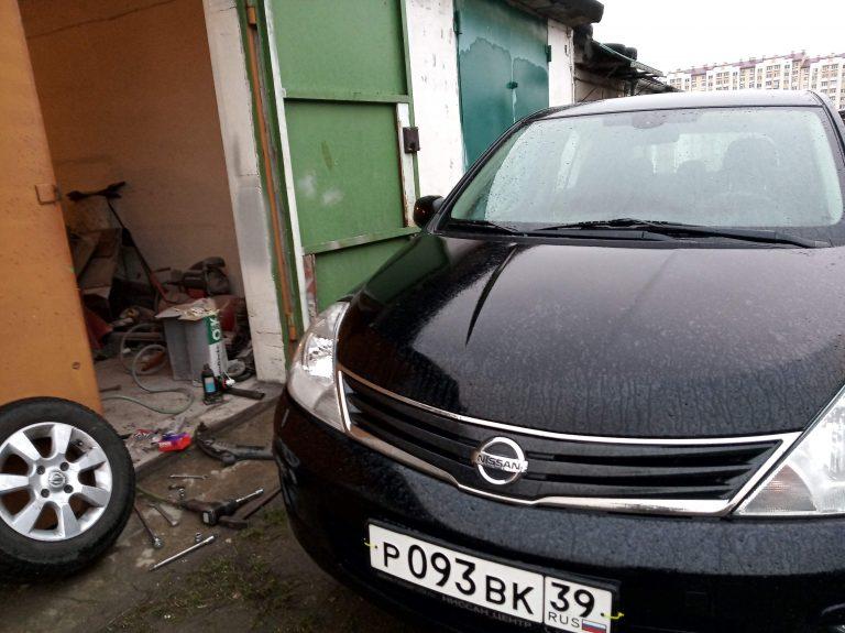 Амортизаторы на Nissan Tiida не трогайте!